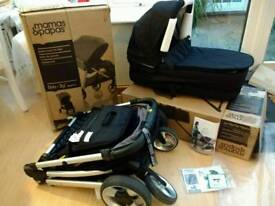 Mamas and Papas Armadillo Flip XT Blackjack Pushchair with matching bassinet/carrycot