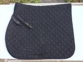 Full Size Saddle Cloth Black