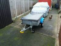 Car trailer galvanized in nice condition