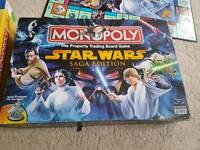 Sought after Monopoly Star Wars Saga edition