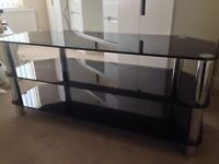 Smoked glass TV unit excellent condition