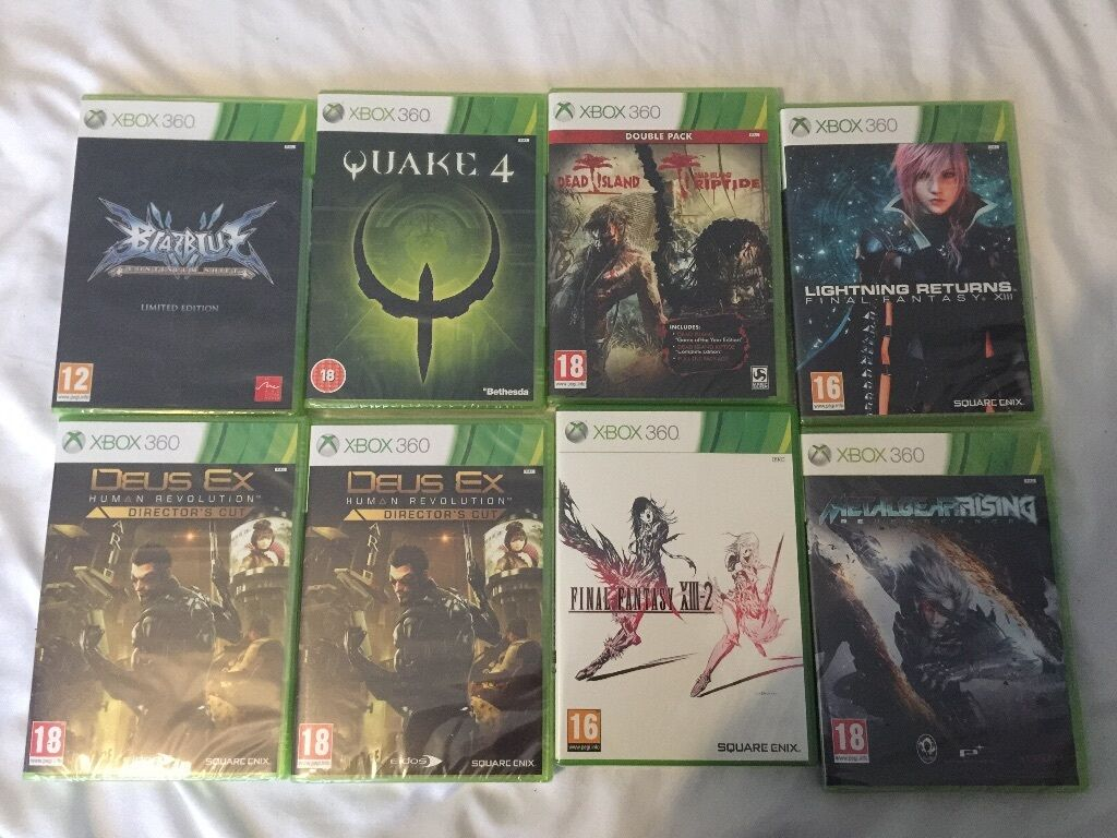 New Xbox 360 All Games : All new and sealed xbox games £ the lot in