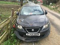 CHEAPEST NEW SHAPE 2009 SEAT IBIZA 1.2 AC STARTS AND DRIVES HPI CLEAR DAMAGED