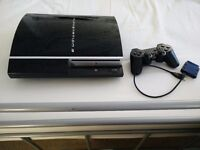 PS3 and Wireless Controller and a Charger Cable