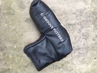 Golf putter head cover . C-groove and YES! Branded . Excellent condition