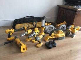 Dewalt power tools (drill, grinder,jigsaw,saw,Hoover,torch)