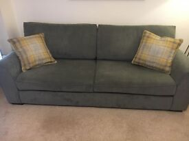 Next Sofa, Grey Michigan extra large sofa and Snuggle seat