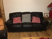 CHOCOLATE BROWN LEATHER SOFAS FOR SALE (2 seater & 3 seater)