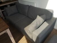 Next Sonoma Large 3 seater sofa and storage footstool