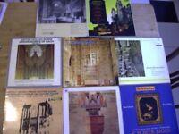 Classical Albums x 8. Organ Music. Cathedral Etc.. Vintage Retro. 12'' 33 rpm. Circa 1967. Excellent