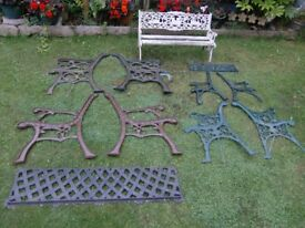 cast iron bench ends etc from £15 - £70