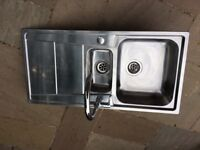 cooke & lewis stainless steel kitchen sink and taps