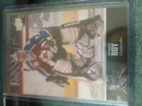 Hockey cards 2 patrick Roy autograph cards