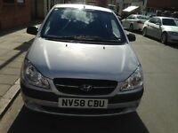 Hyundai Getz 2009, 1.4 Petrol With Full Service History and Long MoT
