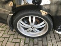 Vw BMW Range Rover 22 inch wheels with good tyres x 4