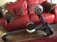 Pro fitness rower with digital counter