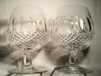 2 Waterford Colleen Design Brandy Crystal Glasses/Snifters 5 1/4 inches