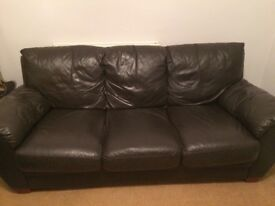 Three seater sofa leather- swap for a two or one seater matching