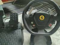 Pc / xbox steering wheel and pedals