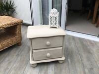 Shabby chic bedside / lamp table