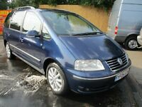 2005 05 VOLKSWAGEN SHARAN 1.9 SPORT TDI PD 7 SEATER FULL MOT CAMBELTED SAT NAV DVD PLAYER PX SWAPS