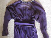 'Dolly Day Ltd London' Vintage, Possibly 1970's, Long Purple Dress