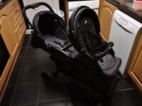 Immaculate Joie evalite duo double pushchair