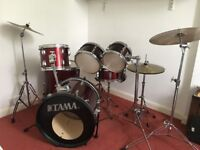 "Tama Stagestar Wine Red 6 piece drum kit (18"" bass)"