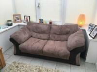Chunky Corduroy Sofabed with matching armchair and storage footstool