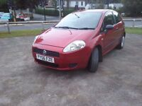 2006 Fiat Grande Punto In Stunning Red, 10 Months Test, 80,000 Genuine Miles