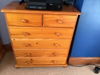 2 door solid pine wardrobes and matching drawers
