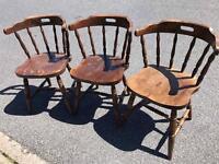 3 Retro Vintage Captains Chairs £60