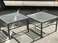 Pair of Glass Tables
