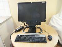 Job Lot of 7 HP Compaq 8000 Elite Ultra Slim Desktop Computer with 19 inch LCD Monitor Export