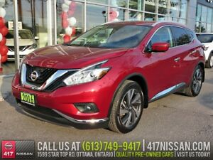 2016 Nissan Murano Platinum | Navi, Pano Moonroof, Leather Htd S