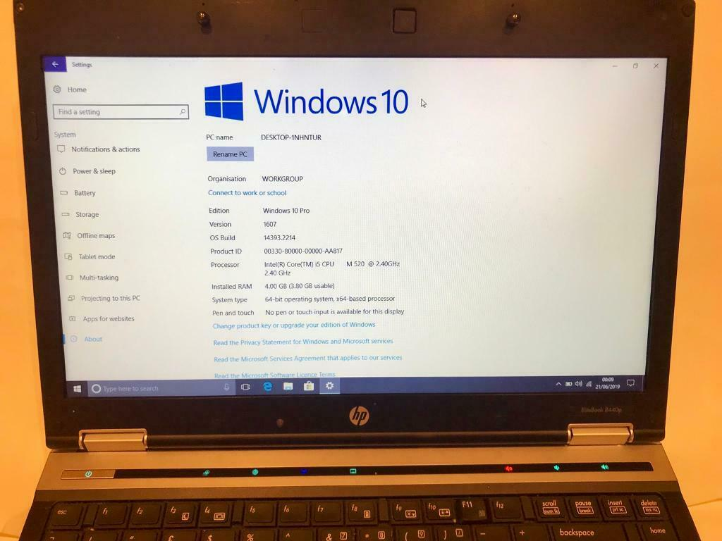 i5 4GB Ram VFast HP HD EliteBook Laptop 320GB,Window10,Microsoft  office,Ready,Excellent condition   in Sunderland, Tyne and Wear   Gumtree