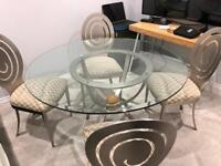 Gorgeous modern glass dining table, £400 ONO