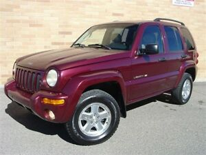 2002 Jeep Liberty Limited 4X4. Certified! Automatic! Leather!