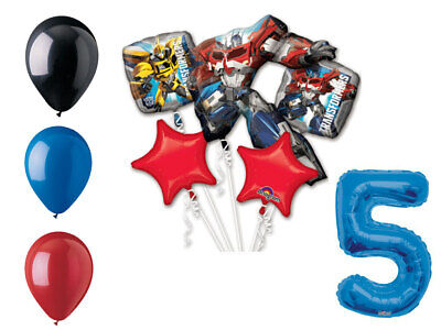 Transformers Balloon Bouquet 5th Birthday Party Supplies Decorations Balloons](Transformer Balloons)
