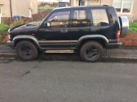 isuzu trooper 4x4 LIFT KIT BIG CHUNKY TYRES LONG MOT FOR SWAP