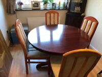 Extendable Dining Table &. 4 Chairs