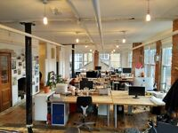 Desk - Co Working Office Space in Creative Central Shoreditch Warehouse Studio - EC2
