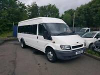 Ford Transit Minibus, 17 seater, 61,000miles, MOT Feb 2019