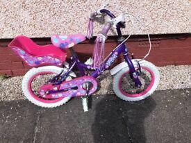 "Girls 14"" Raleigh bike"