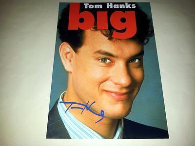 "BIG PP SIGNED 12""X8"" MINI POSTER TOM HANKS"