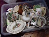 Box of collectable ceramics