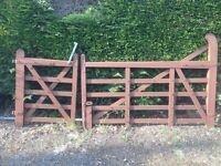 5 bar oak gates