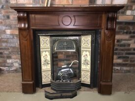 Victorian fireplace & surround , ideal for shabby sheek good condition.