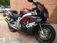honda fireblade cbr900rr black n reg