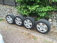 ZAFIRA ASTRA VECTRA FULL SET OF 4 Steel Wheels + Trims And Tyres 205-55-16